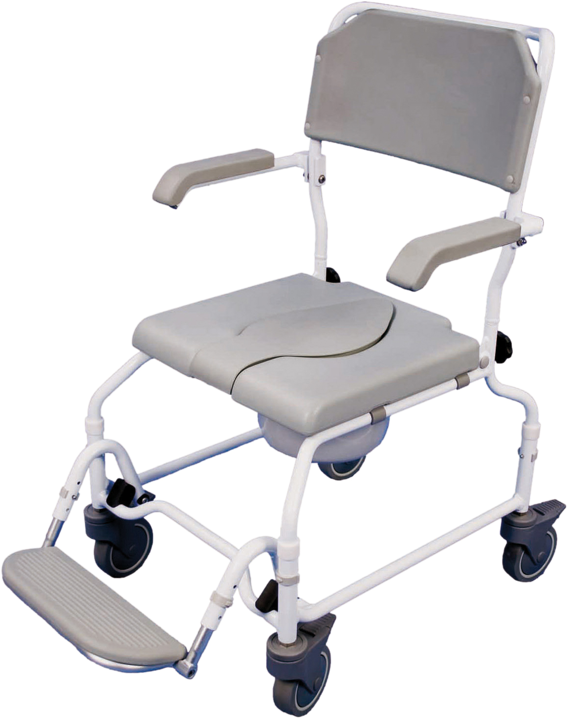 Bewl Adjustable Height Shower Commode Chair Aidapt Mobility Aids ...