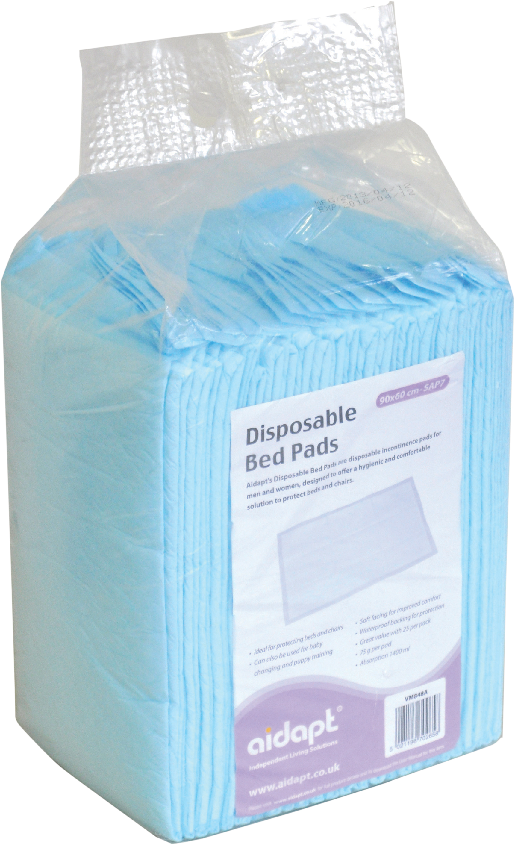 Disposable Bed Pads Aidapt Mobility Aids & Independent Living ...