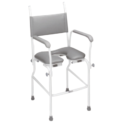 "Aquamaster (A02) Static Shower Commode Chair (Size Seat Width: 445 (17""))"