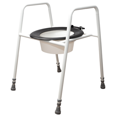 Solo Skandia Raised Toilet Seat and Frame (Configuration Free Standing with Bucket)