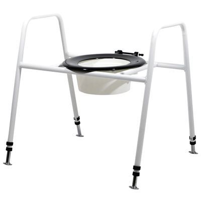 Solo Skandia Combined Bariatric Raised Toilet Seat and Frame (Configuration Free Standing with Bucket)