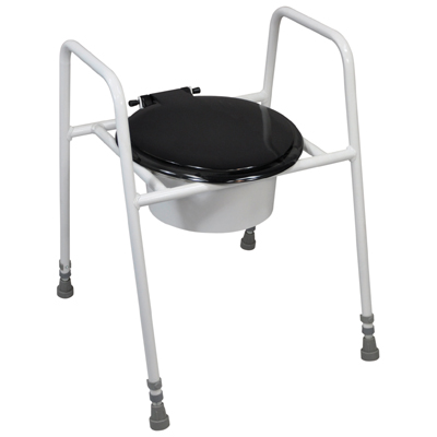 Solo Skandia Raised Toilet Frame with Seat and Lid (Configuration Free Standing with Bucket)
